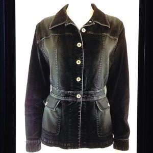 Liz Claiborne Lizwear Denim Button Front Jacket